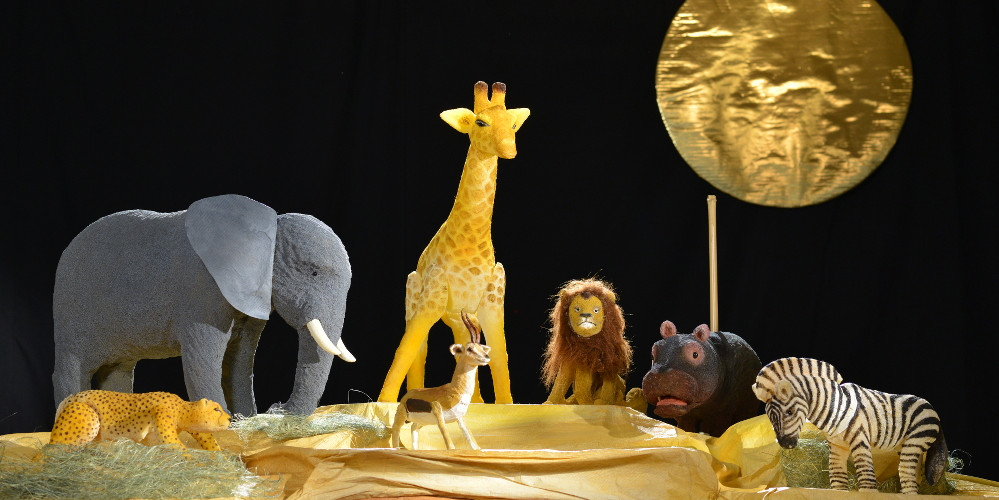 Alle Tiere der Savanne aus dem Kindertheater Freunde fuers Leben