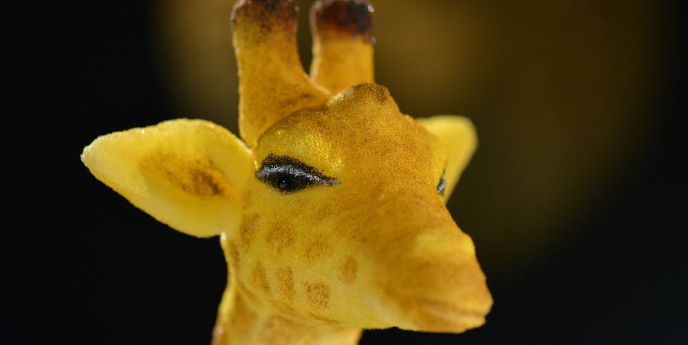 Friedliche Giraffe aus dem Kindertheater Freunde fuers Leben